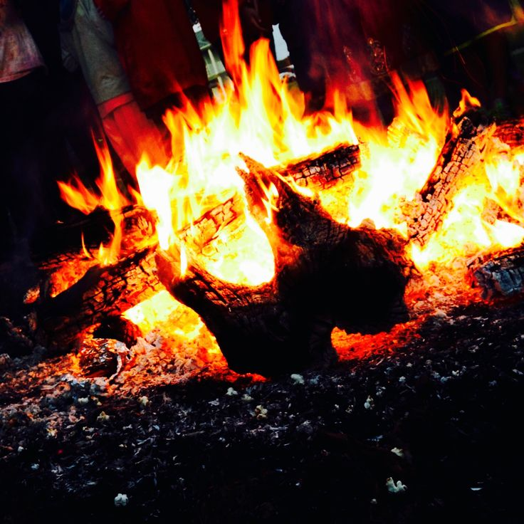 """Traditional Springtime Festival """"Holi"""" Bonfire :: Happy Holi, 2016 :: """"Set your life on fire. Seek those who fan your flames."""" Rumi  ♈ Happy Birthday, Aries :: Happy Astrological New Year, Everybody!"""