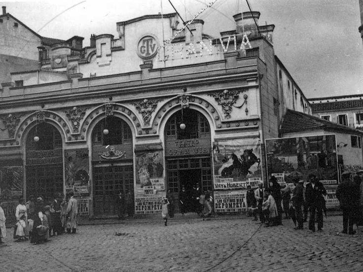 Cine Teatro Gran Vía, durante el primer cuarto del siglo XX, posiblemente sobre 1914 ó 1915.