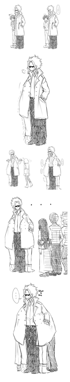 Boku no hero academia, My hero academia, All Might, Izuku, Midoriya, Deku, coat, Ochako, Uraraka, Tsuyu, Asui, Shoto, Todoroki, Eijiro