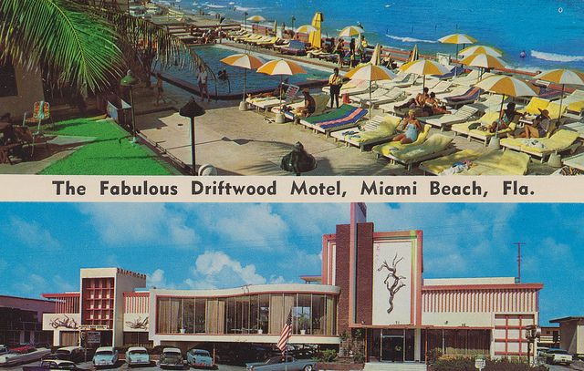 Driftwood Motel - Miami Beach, Florida. On the Ocean at 171st Street & Collins Avenue Miami Beach, Florida Wilson 7-4441 Member of American Express and Diners Club. AAA Approved.