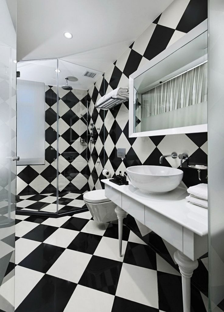 22 besten Bad Hemnes Bilder auf Pinterest | Badezimmer, HEMNES und ... | {Badezimmer fliesen design schwarz weiß 54}