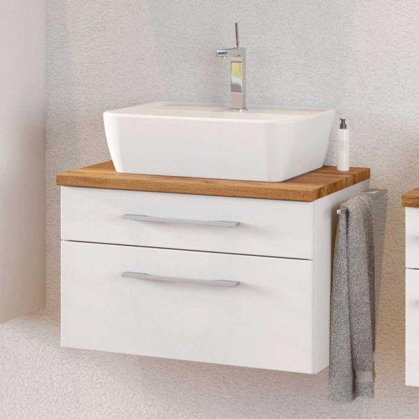 Waschtisch Unterschrank Tropezia In Weiss Und Wildeiche Dekor 60 Cm Breit Unterschrank Unterschrank Waschbecken Badezimmer Unterschrank