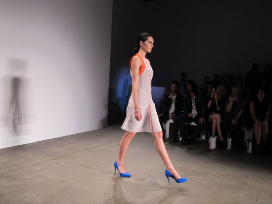 Ode to No One at Mercedes-Benz Fashion Week Australia ... coral and Mediterranean blues ... divine