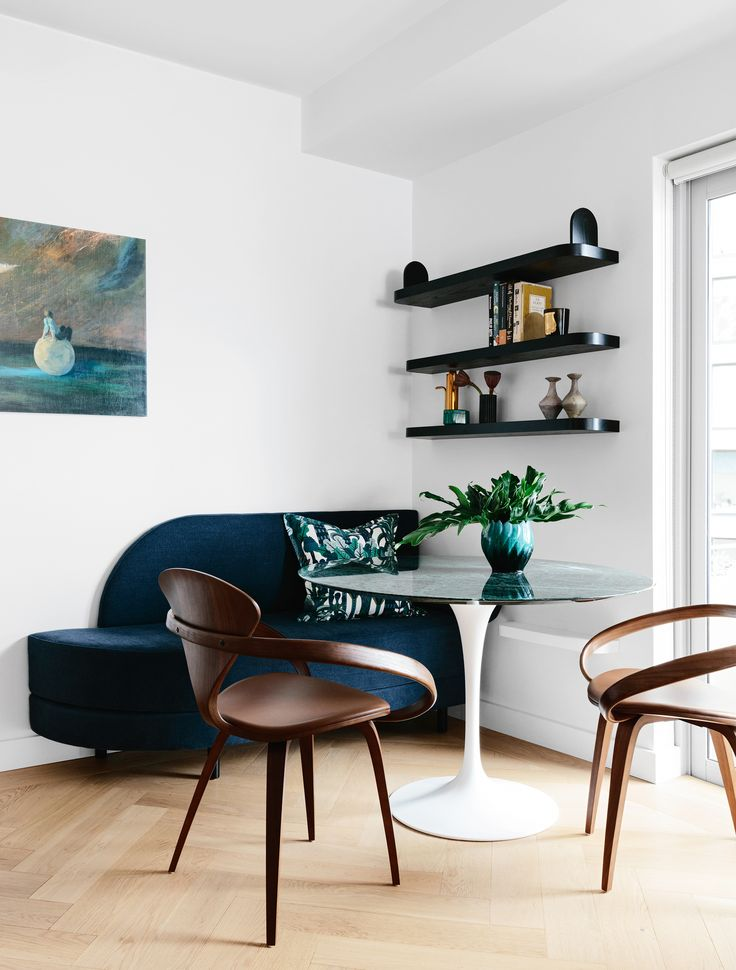 This Dining Nook, In A Sydney Harbour Apartment, Features A Bench Seat  Upholstered In Part 95