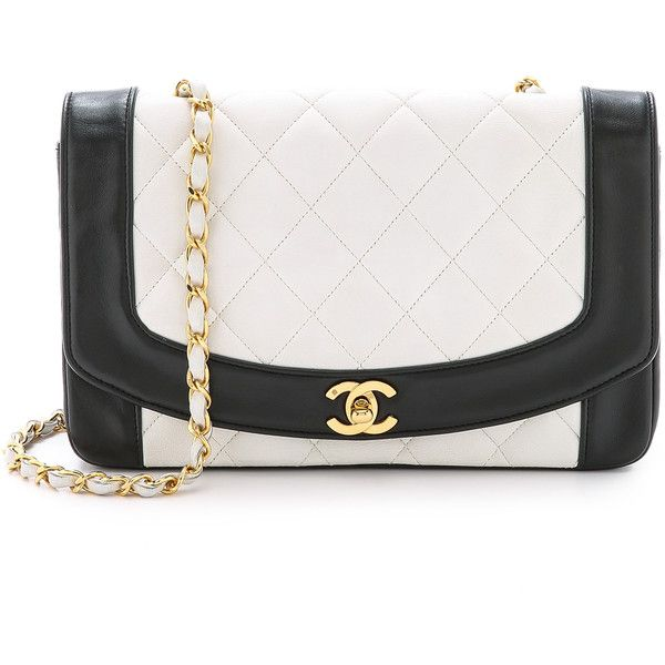 What Goes Around Comes Around Chanel Classic 9'' Bag - White/Black found on Polyvore