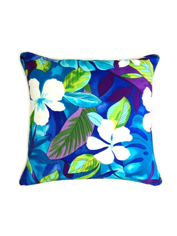 One Cushion Aloha Blue Tropical Cushion by islandinspiredhome on Etsy