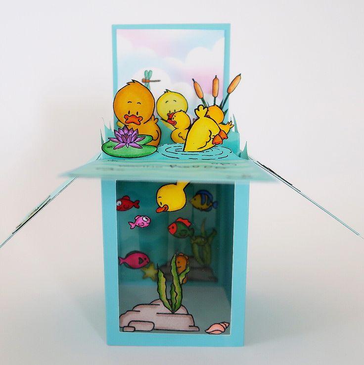 "Saying ""hi"" Gerda Steiner Designs Card by InsideoutJeans 3D craft box"