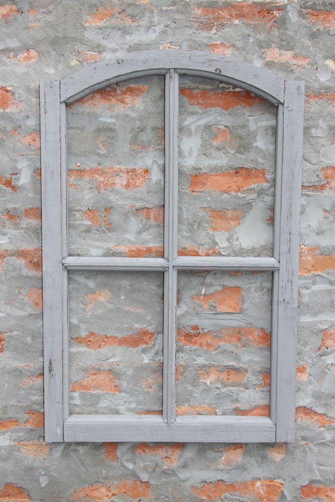 Fabulous Dekorahmen Fenster Holz Dekofensterrahmen Holzfenster xx grau Shabby Chic in M bel u Wohnen Dekoration