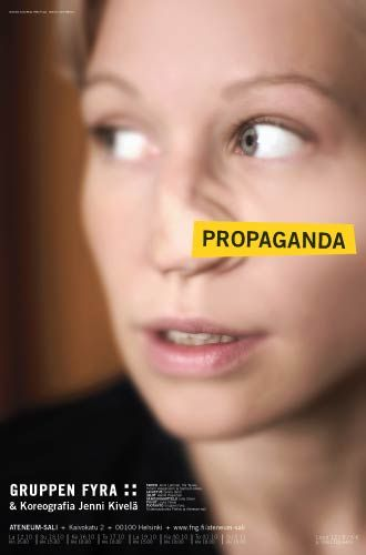 Propaganda, a dance performance at the Finnish National Galler Ateneum Hall | Designed by: Pekka Piippo