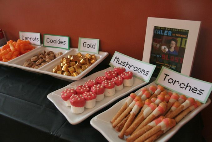 Party ideas for snacks ! #minecraft #party #partyideas