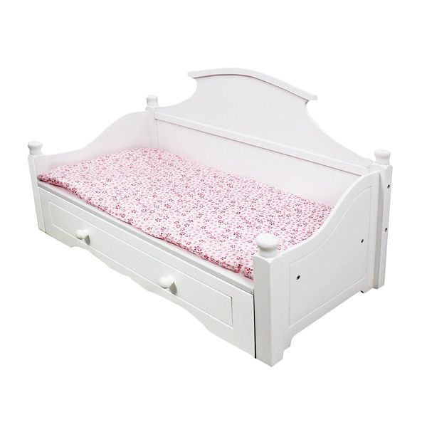 18 doll bed | The Queen's Treasures American Victorian Trundle Dreamy Daybed Fits 18 ...