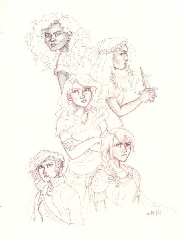 Hazel Levesque, Reyna, Annabeth Chase, Piper Mclean, Thalia Grace
