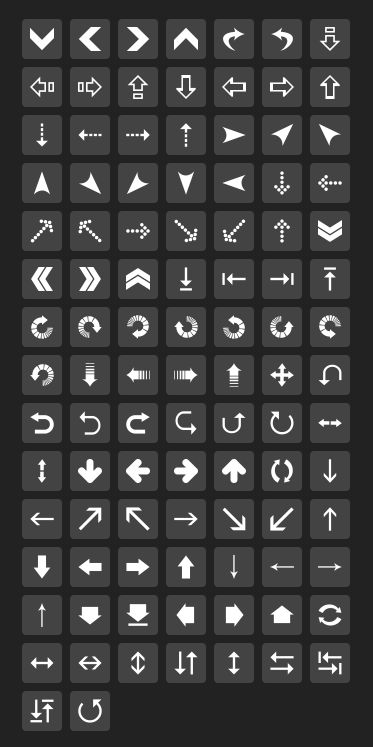 Custom SVG & PNG Icon Generator » Classic Arrows Icons