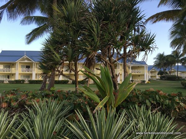 exterior of Magdalena Grand Beach Resort in Scarborough, Tobago; http://travelswithcarole.blogspot.com/2017/06/great-sleeps-magdalena-grand-beach.html