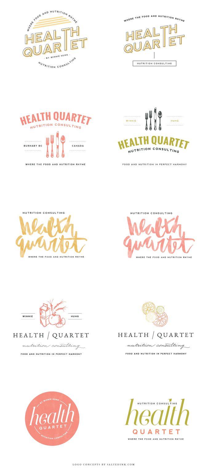 Brand Launch: Health Quartet   logo concepts   #design #brand #branding #logo   www.saltedink.com