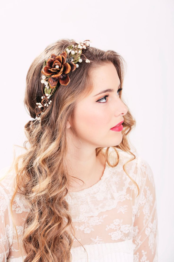 flower crown wedding hair autumn wedding package flower crown wedding headpiece 4156