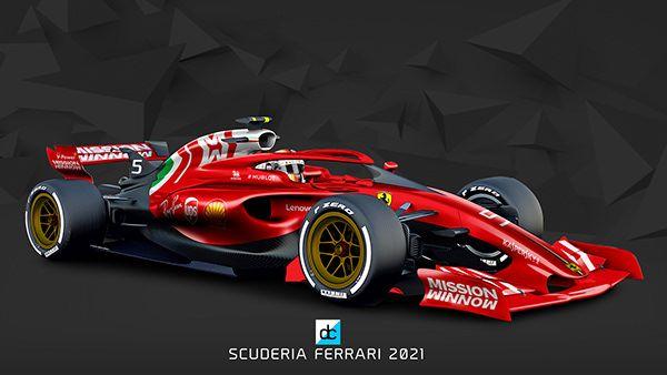 2021 F1 Concept Liveries On Behance Ferrari New Cars Formula 1 Car