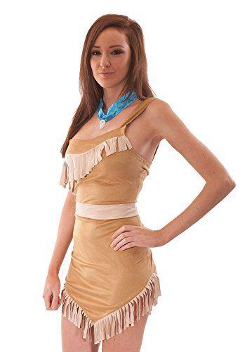 Disfraz de Pocahontas mujer. India. Indigena Americana. Disney. Carnaval. Halloween
