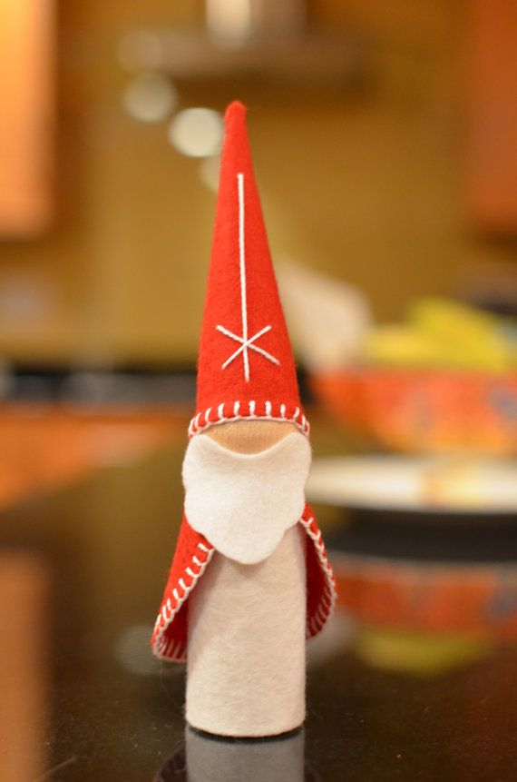 To make: Large St. Nicholas peg doll gnome