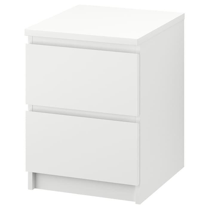 Best Malm 2 Drawer Chest White 15 3 4X21 5 8 Malm Bed 640 x 480