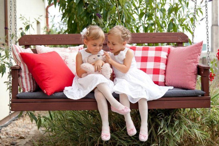 Girls in the garden. Spring in the garden #dekoriapl #garden #spring #decorations #inspirations #pillows #chairs #table #lovley