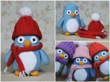 163 best pingüino amigurumi images on Pinterest | Patrones amigurumi ...