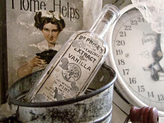 Vintage vanilla bottle