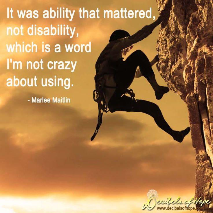 Inspirational Quotes Motivation: Deaf Quotes Inspirational. QuotesGram