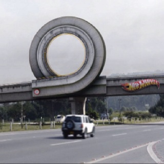 Brilliant non-traditional ad. Makes me miss those Hot Wheels tracks.