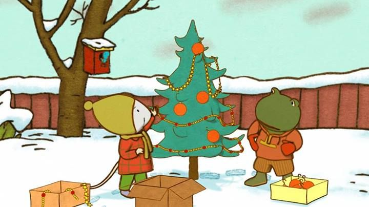 (2014-08) Nellie og Cezar pynter juletræ