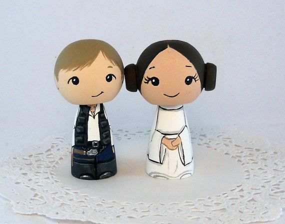 Han and Leia Star Wars Wedding Cake Toppers