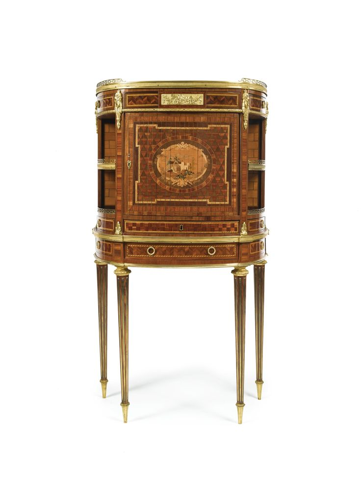 A LOUIS XVI ORMOLU-MOUNTED BOIS SATINÉ, AMARANTH, FRUITWOOD AND PARQUETRY AND MARQUETRY SECRÉTAIRE CIRCA 1780, STAMPED E. LEVASSEUR Etienne Levasseur (1721-1798), maître in 1766
