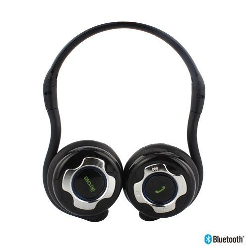 iKross A2DP Bluetooth Stereo Headphone Headset with Black Carrying Case -Hands Free calling for Samsung Galaxy S3 S III I9300