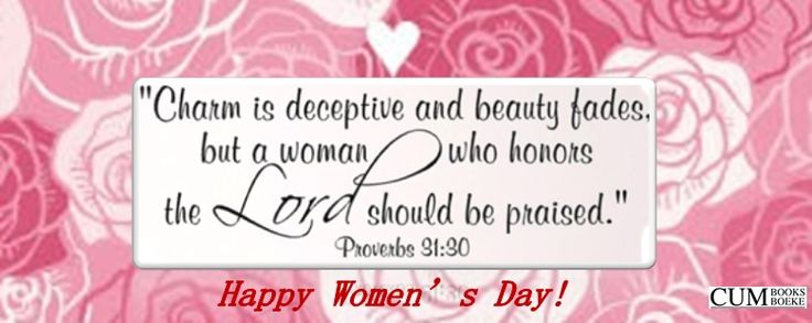 Happy Women's Day! Trust that all the Women had a blessed day! Remember you can ALWAYS spoil yourself with GREAT products @ http://www.cumbooks.co.za/