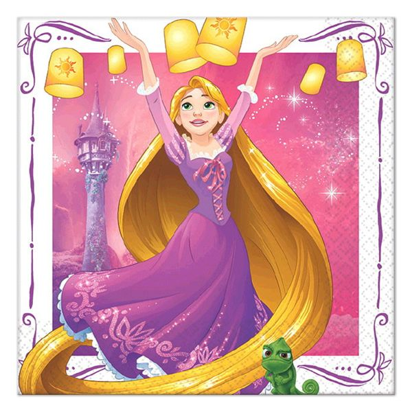Disney Tangled Beverage Napkins (16)