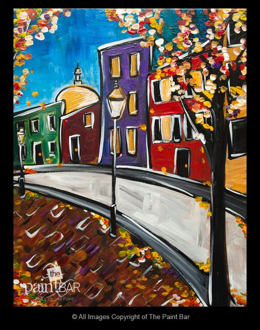 Funky Beacon Hill Painting - Jackie Schon, The Paint Bar