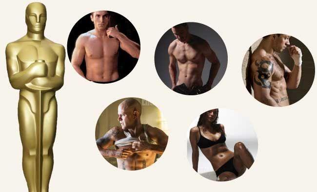 Mira los cuerpos más hot de los Oscar y consigue uno igual. Mira las rutinas de Jennifer Lawrence, Tom Hardy, Matt Damon, Christian Bale, Michael Fassbender