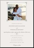 Flawless Frame:Light Gray: Wedding Invitations, White Weddings