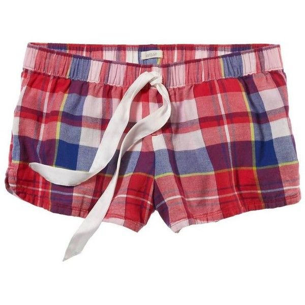 Aerie Dormwear Perfect Boxer (17 AUD) ❤ liked on Polyvore featuring intimates, sleepwear, pajamas, shorts, bottoms, pyjamas, polish, plaid flannel pajamas, short boxer and flannel pyjamas