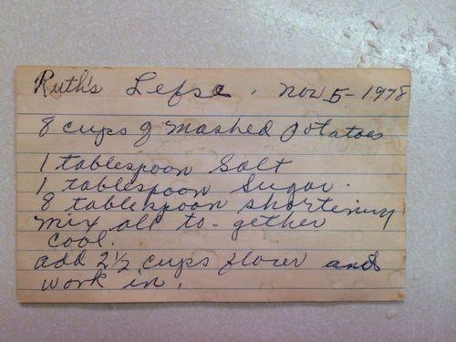 Old Fashioned Lefse Recipe