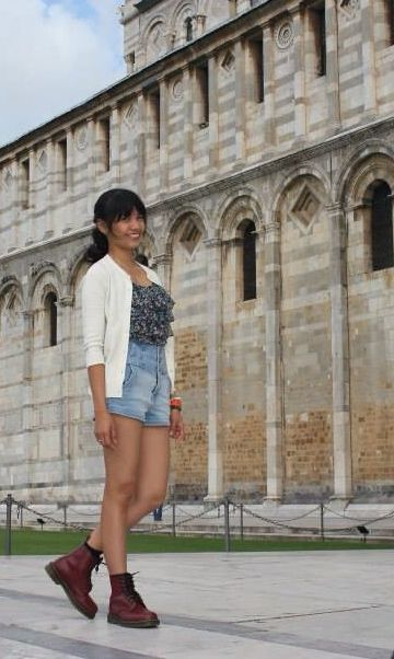 Sporting on my Dm's.. Travel outfit shot in Pisa, Italy last sept '13