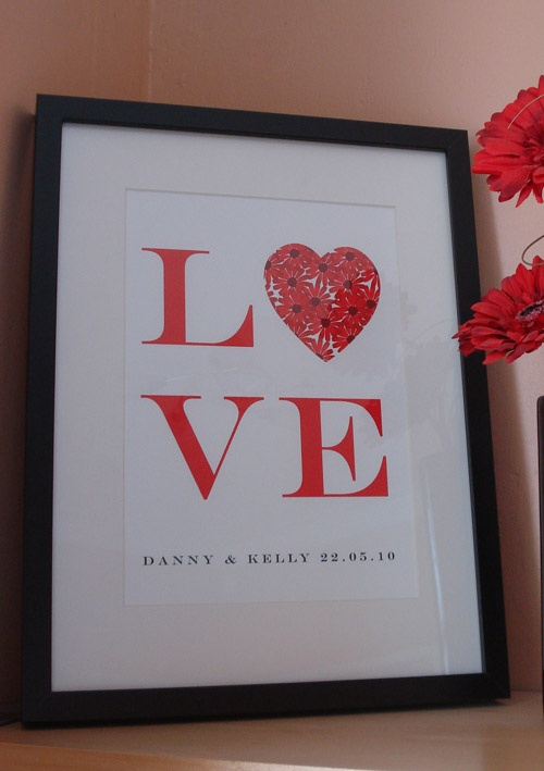 Personalised Wedding gift art print     http://www.artylicious.co.uk/co010.htm