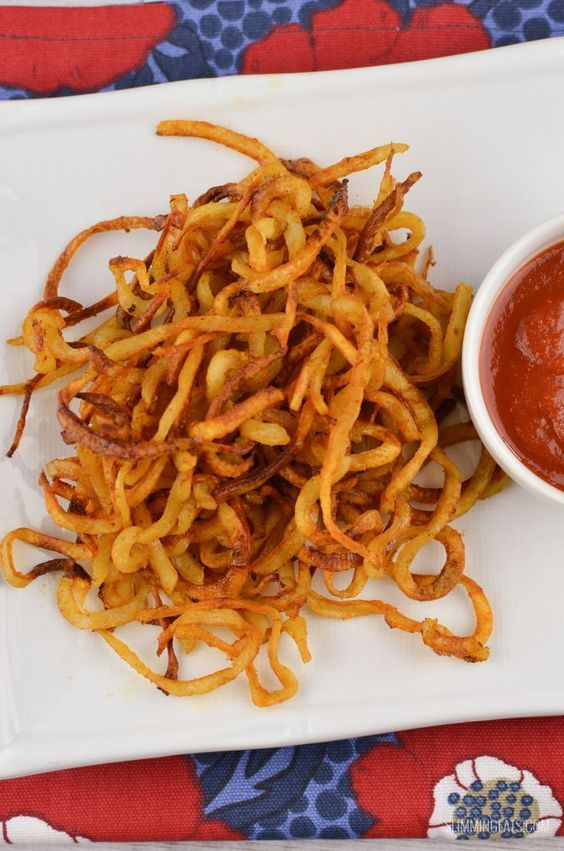 Slimming Eats Syn Free Curly Fries - gluten free, dairy free, vegetarian, Slimming World and Weight Watchers friendly