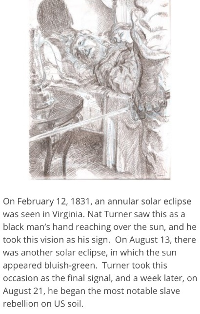 * Nat Turner played a big role in slavery through his