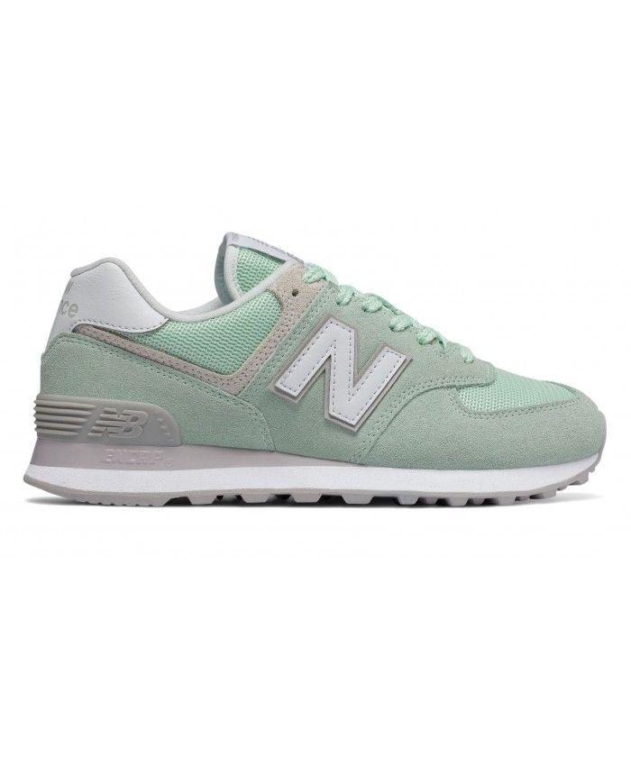 premium selection 4df9f 4b555 ... shop femme new balance 574 vert blanc 6cda0 75d33