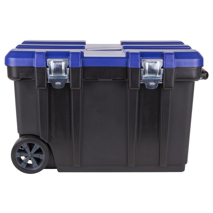 Kobalt 30.5-in Black Plastic Lockable Wheeled Tool Box