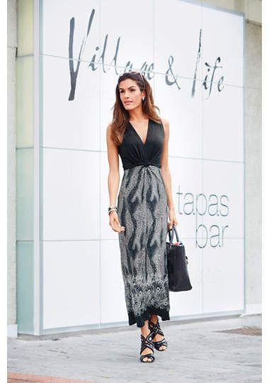 VIVANCE Jersey-jurk met brede bandjes €39,99