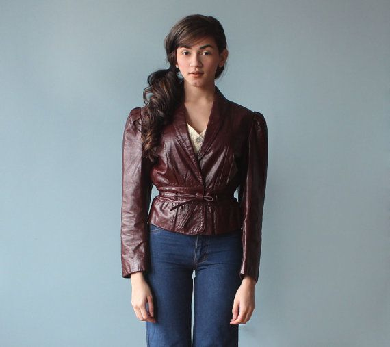 Hey, I found this really awesome Etsy listing at https://www.etsy.com/listing/175059822/oxblood-leather-jacket-peplum-leather