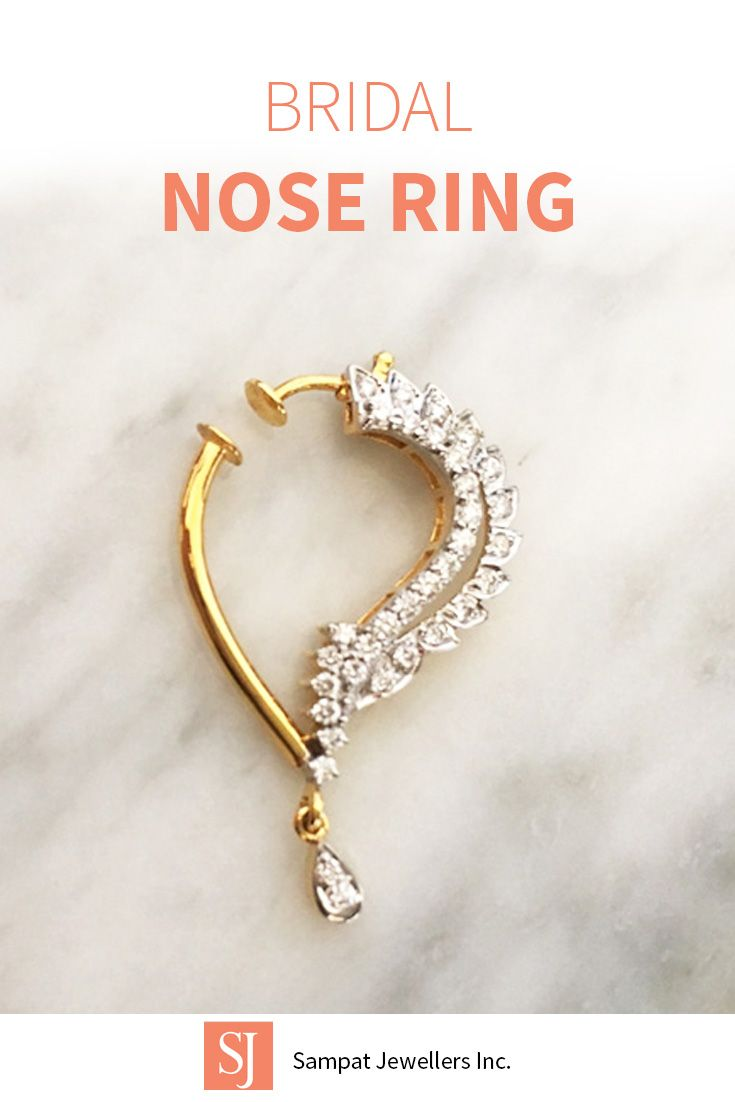 About nath nose ring mukku pudaka on pinterest jewellery gold nose - Indian Diamond Nose Ring Perfect For Indian Weddings Click To Find The Perfect Nose