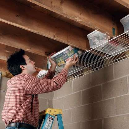4ad6e64aeef39cd64e2f93bbaa774f80 Slide 35 of 50: Don't waste all that space between joists in a basement or g...